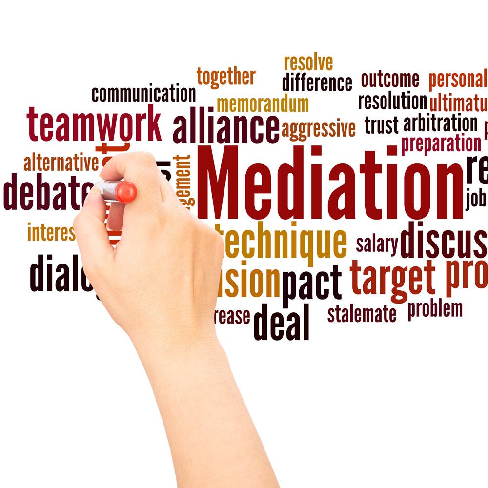 Darstellung des Begriffsfelds Mediation