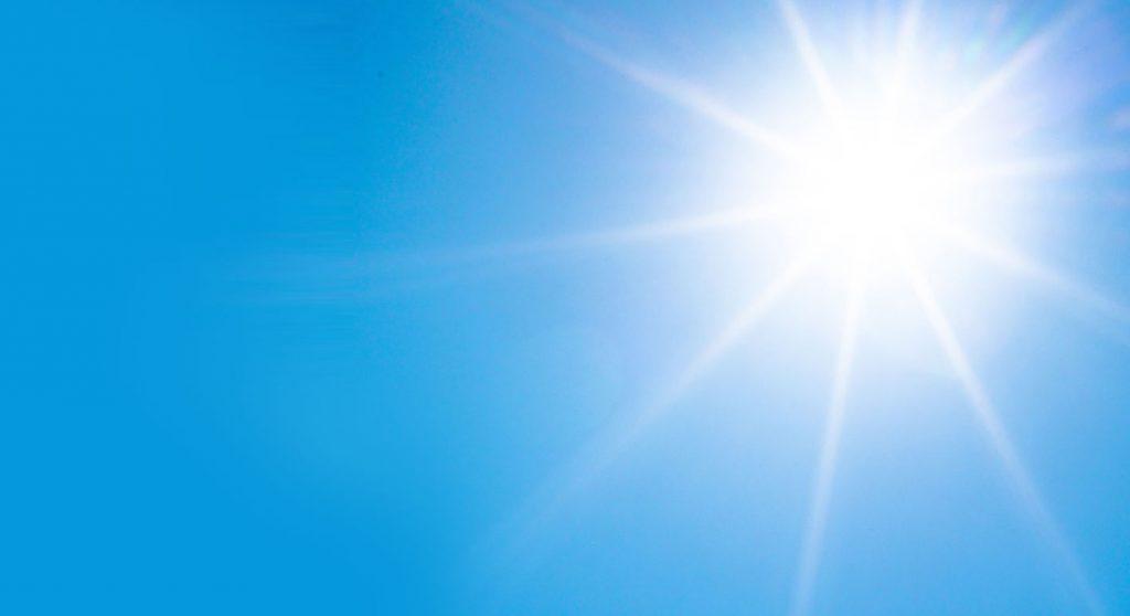 Sonne als Symbol für Klärung eines Konflikts
